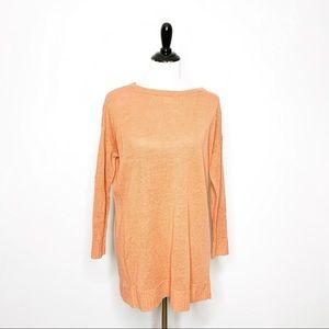 Eileen Fisher Organic Linen Knit Tunic Sweater